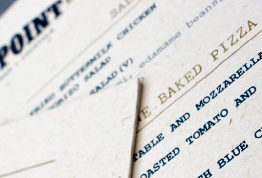 Menus, wine lists and labels