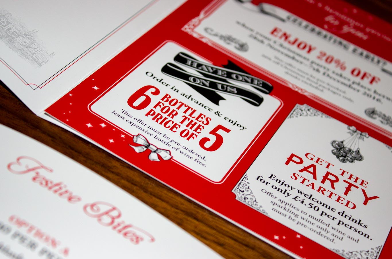 Christmas booklet with special offers