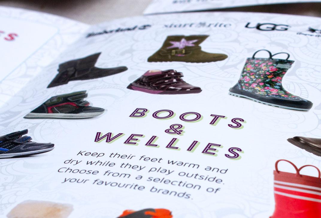 Catalogue design for a shoe retailer