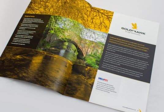 Printed brochure for Goldhawk Bridge Restoration