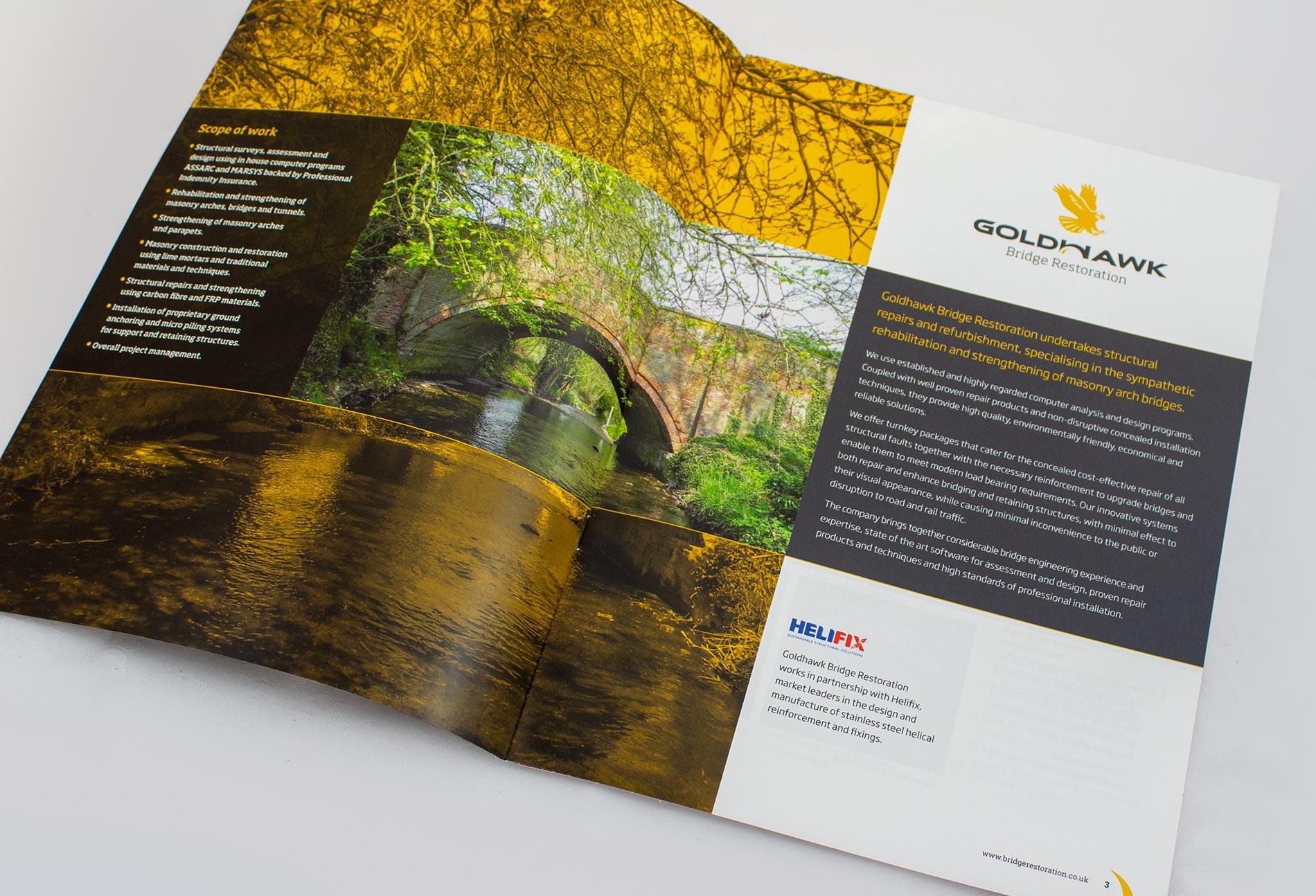 Printed brochure for Goldhawk Bridge Restoration