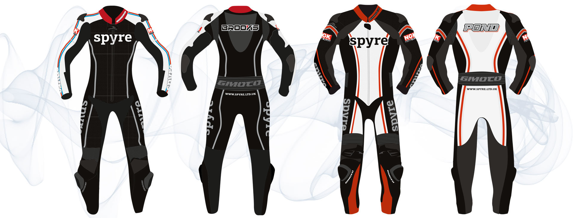 Bespoke motorcycle race leathers design