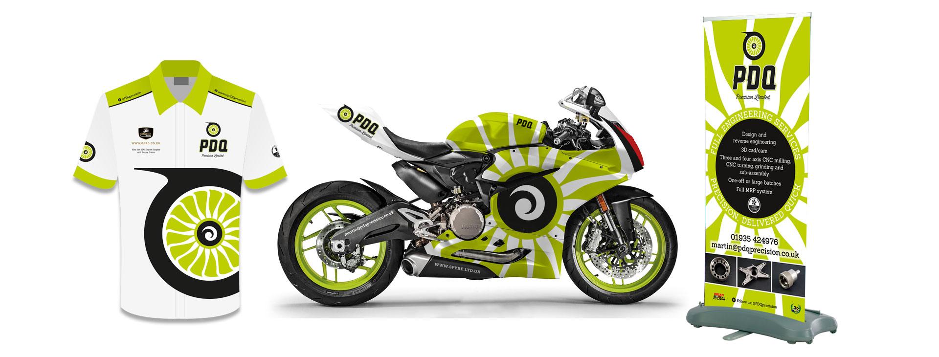 Motorcycle race graphics