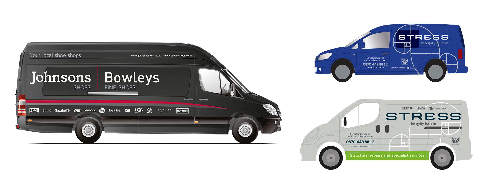 Vehicle livery and vinyl van graphics