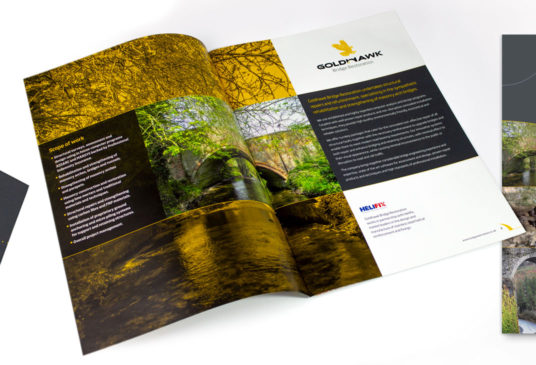 8 page brochure designed and printed