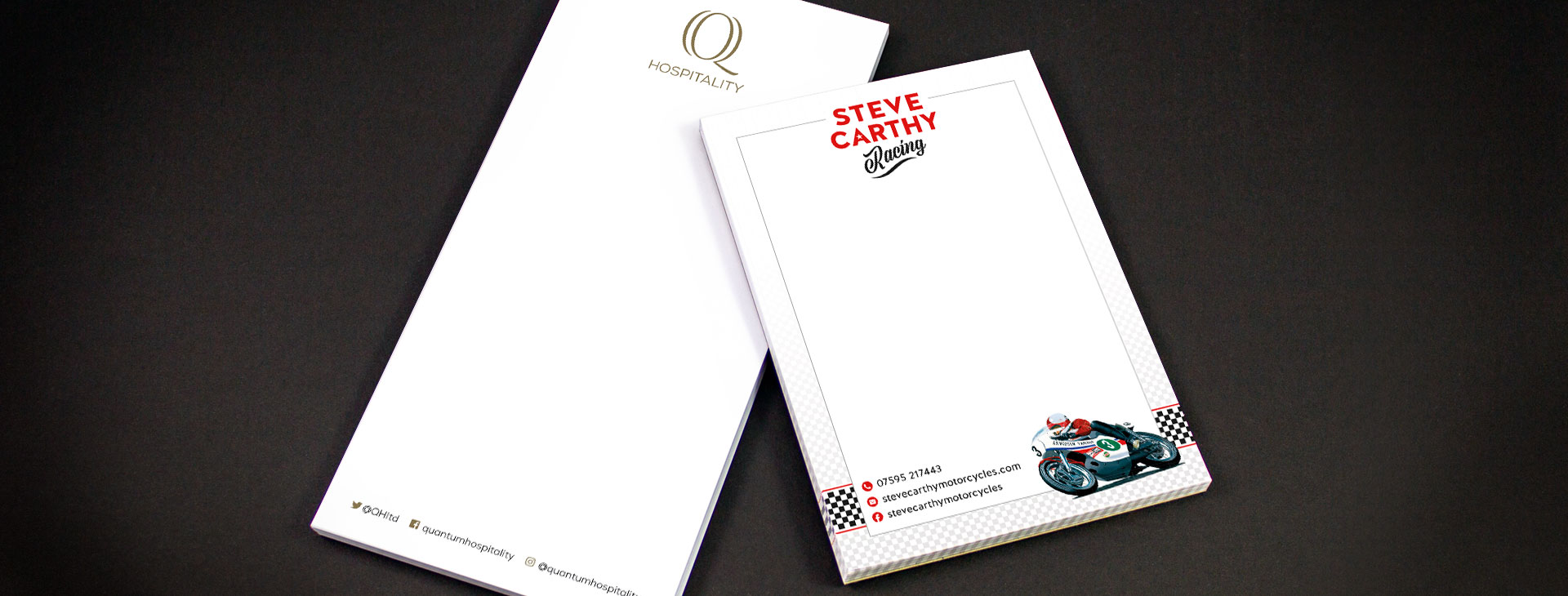 Note pad design and print for corporate stationery packs