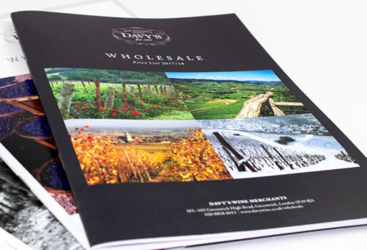 Brochure design and artwork for litho or digital print