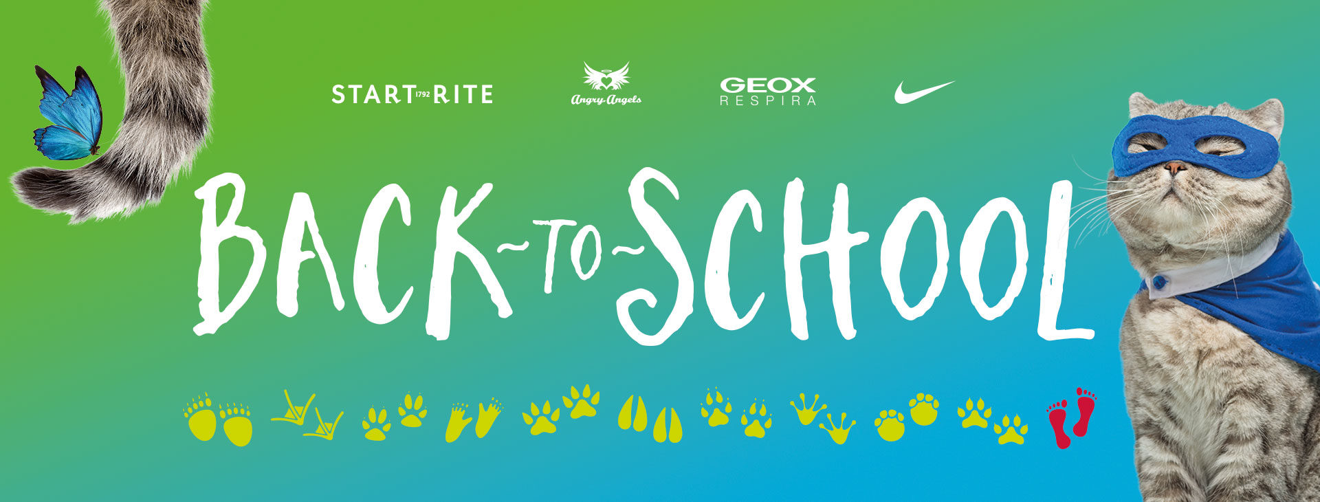 Back to school, shoe retail campaign graphics