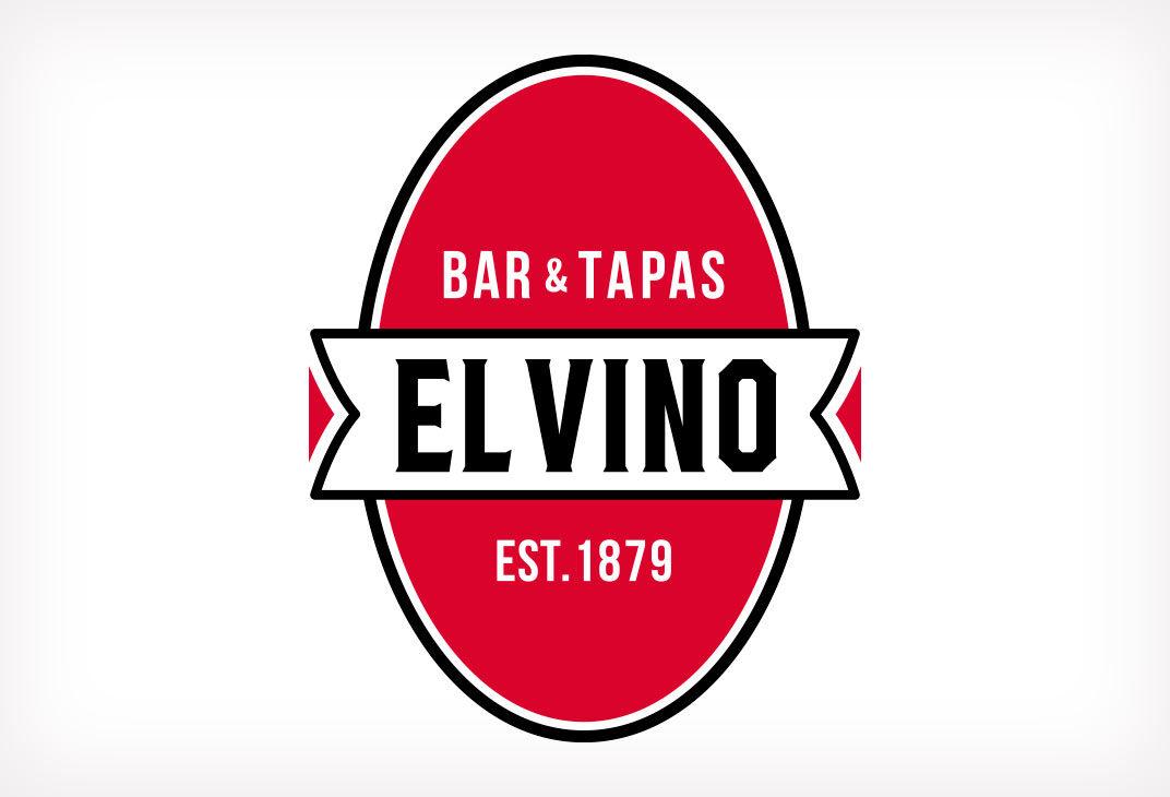 El Vino wine bar logo design for London restaurants and bars