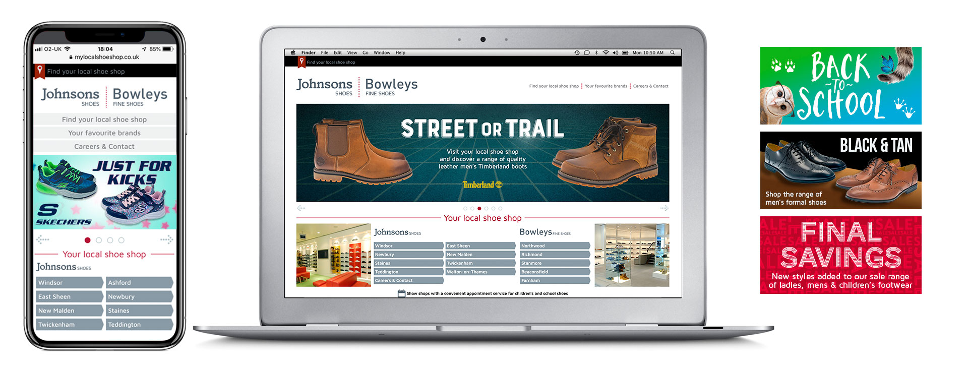 Wordpress theme for a high street retailer
