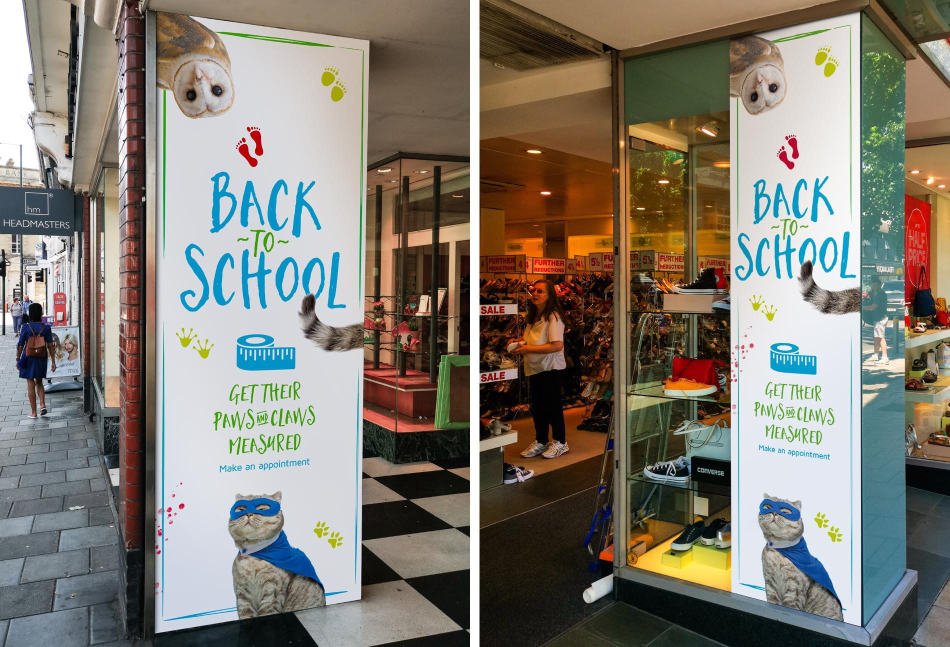 Back to School large format window vinyl graphics