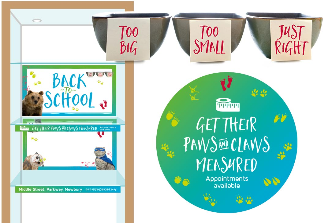 Back to School point of sale design and graphics