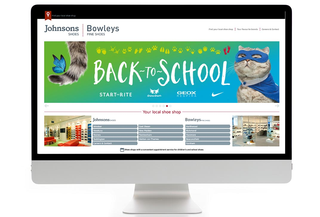 Back to School shoe shop campaign online