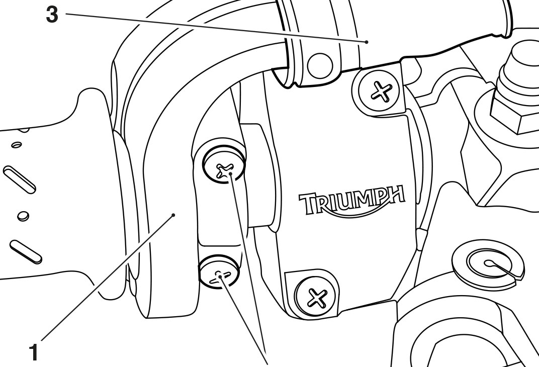 Technical illustrations for Triumph Motorcycle manuals