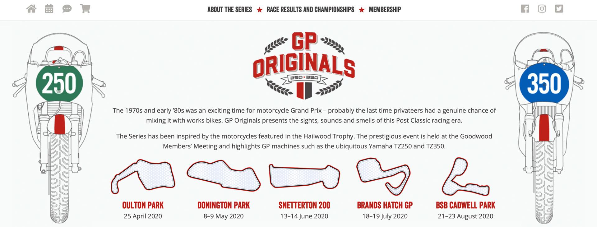 GP Originals bespoke WordPress theme designed by Spyre Limited