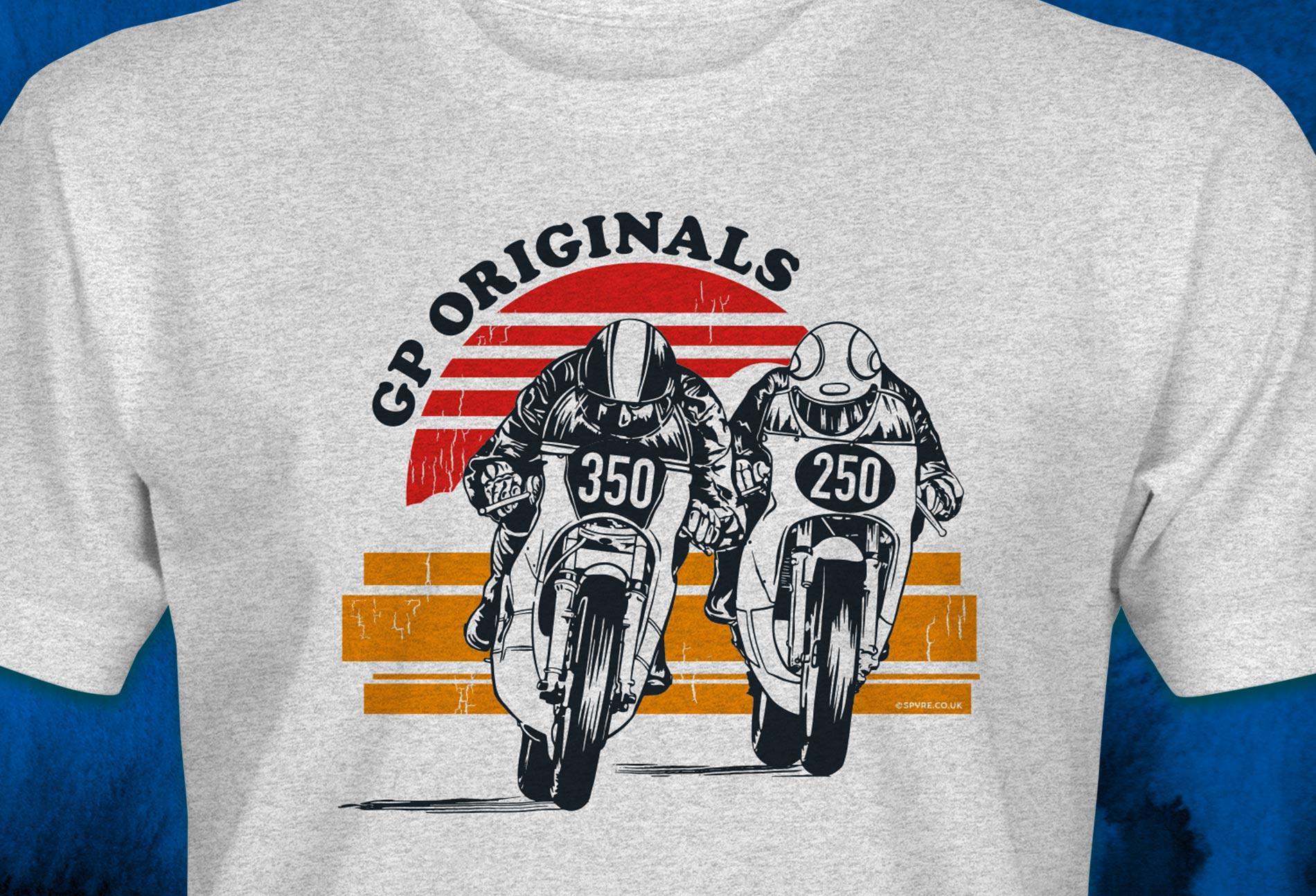 Vintage Yamaha t-shirt design for GP Originals racing