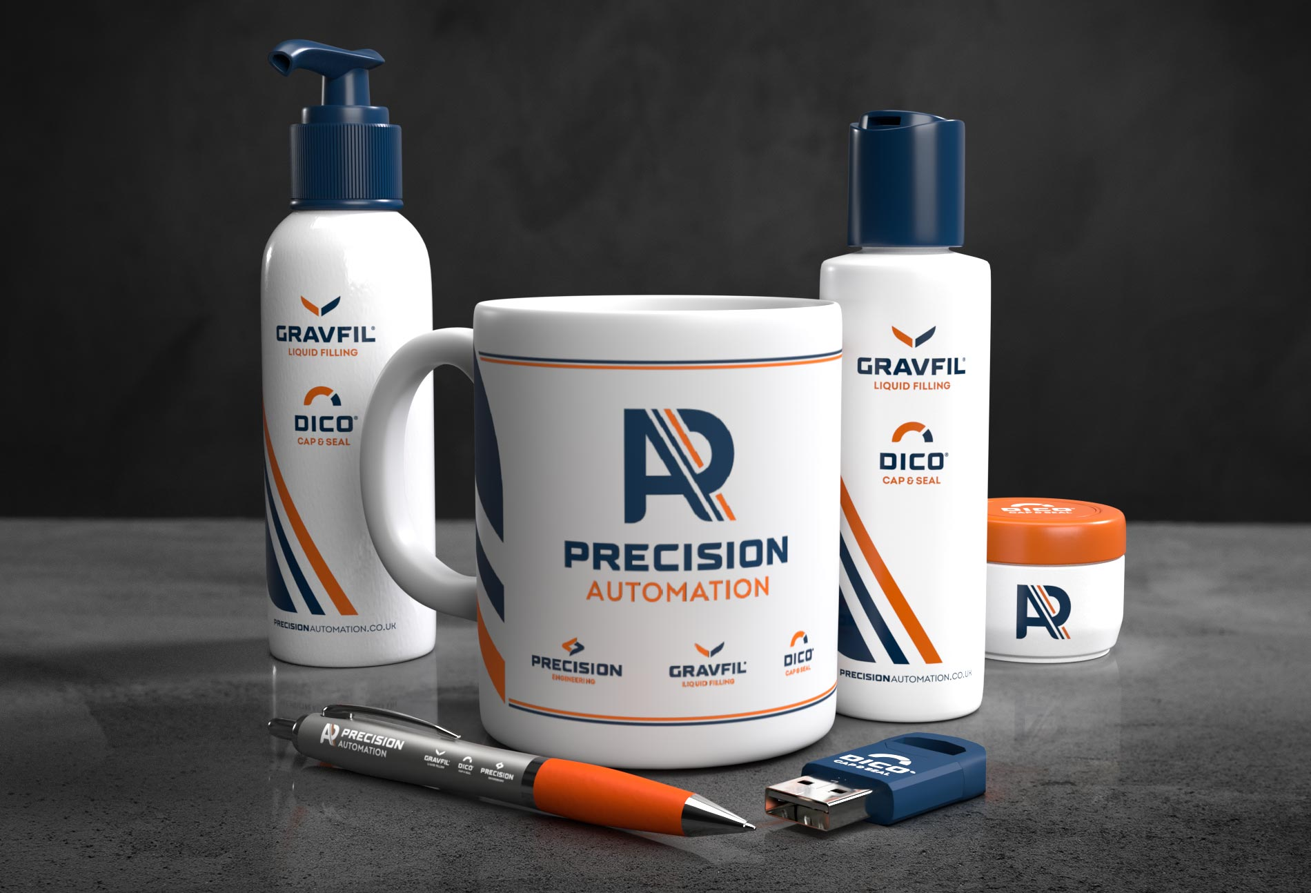 Monogram design for Precision Automation