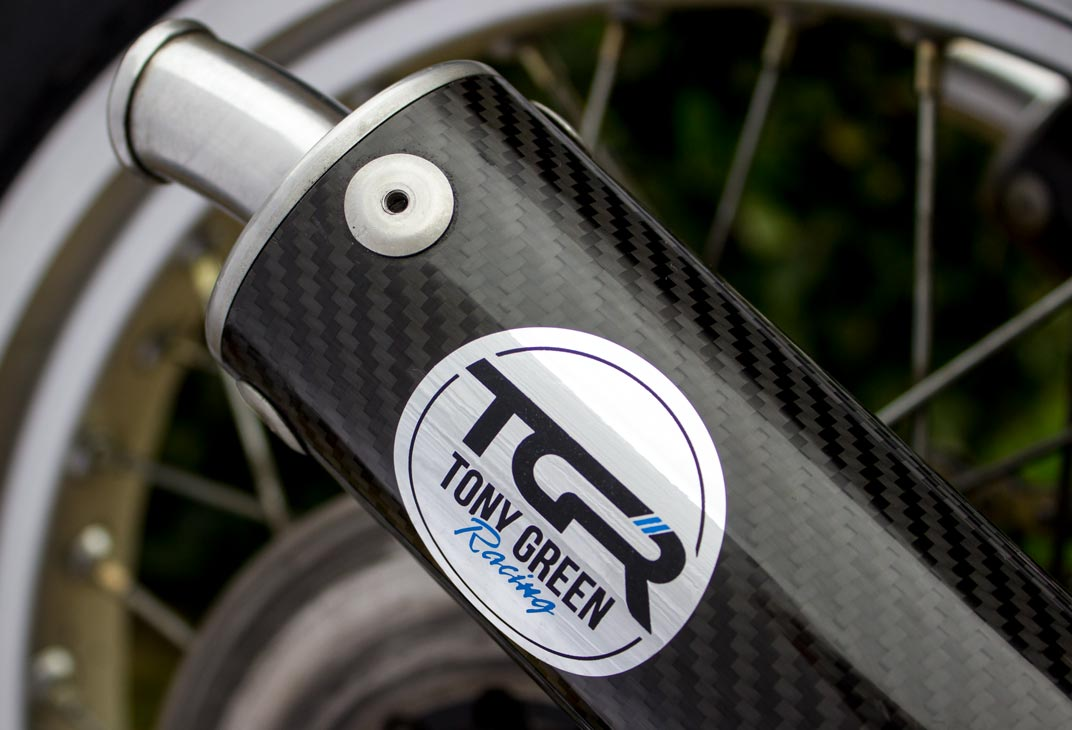 TGR metallic stickers for exhaust pipes