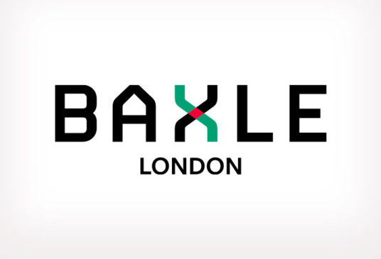 Baxle London logo and brand design for the haulage industry