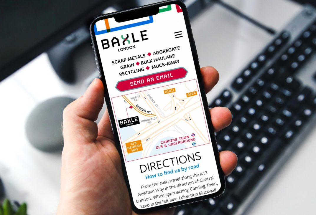 Baxle mobile website responsive layout