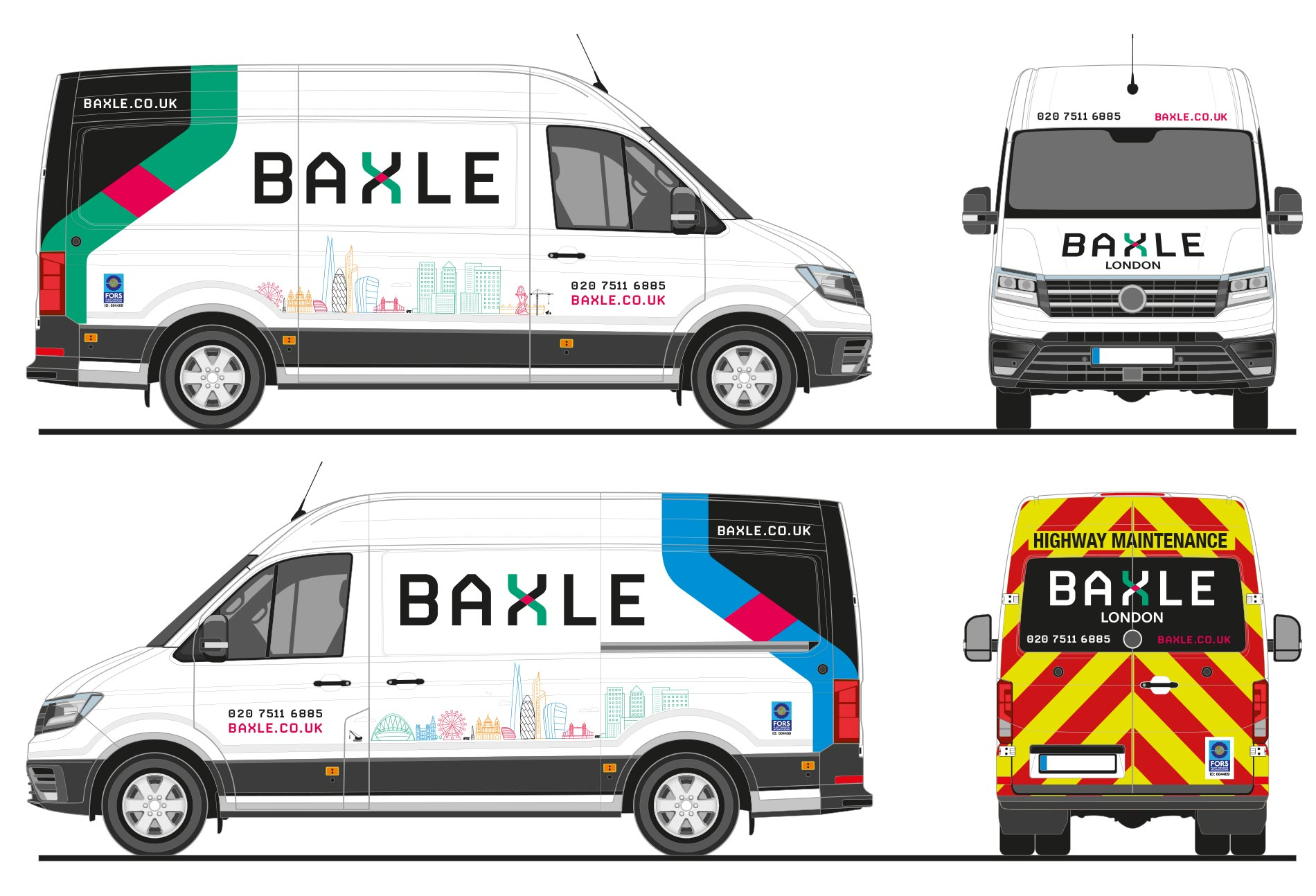 Baxle van graphics for VW Crafter