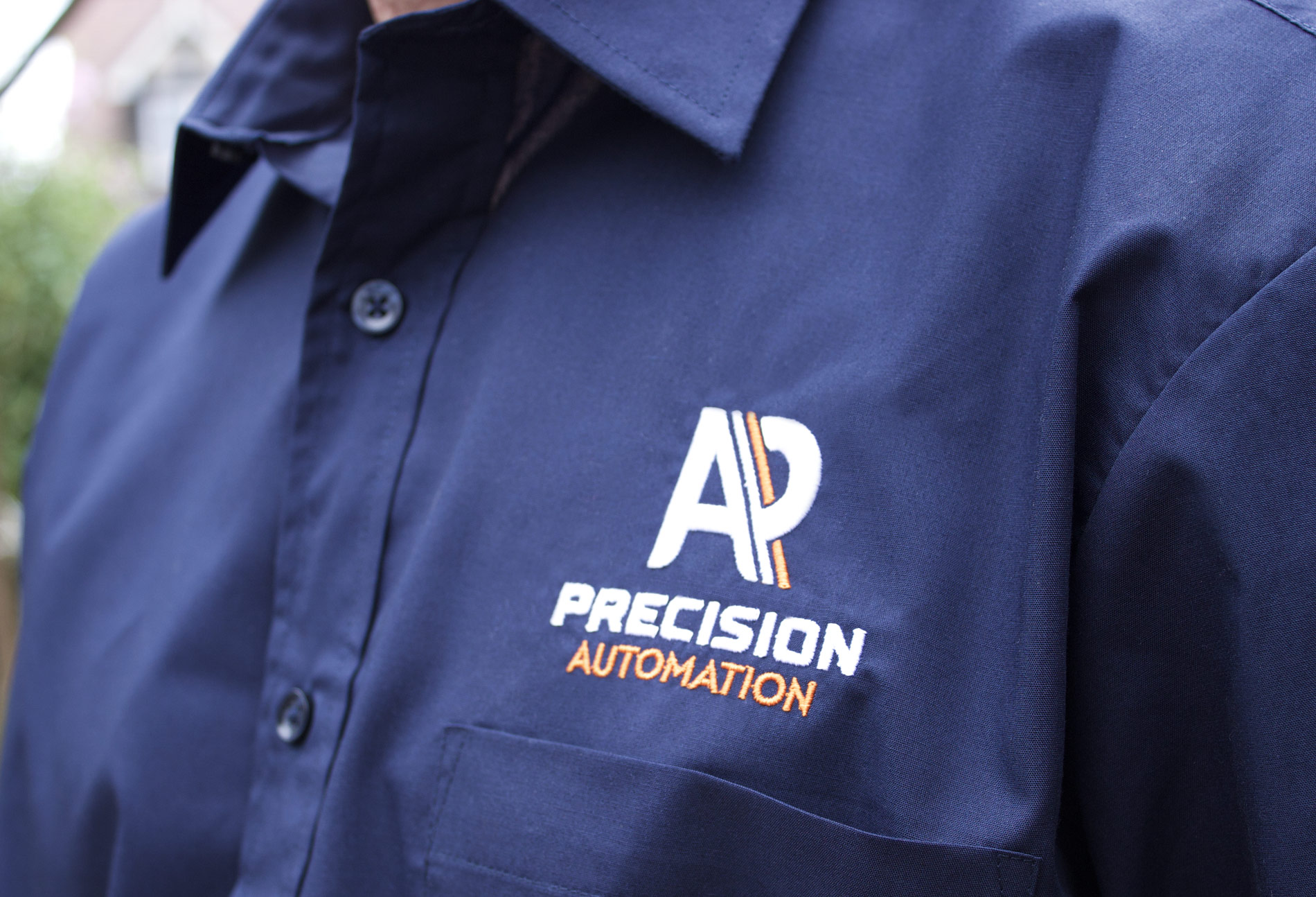 Branded workwear with custom embroidered logo