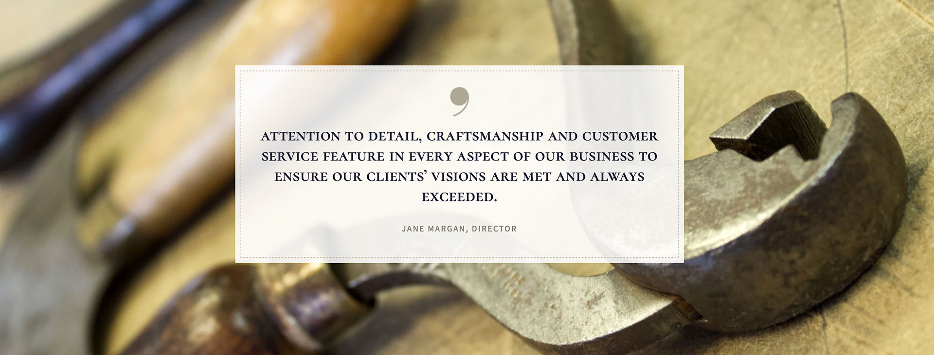 Leatherwork and craftsmanship were the basis of the brief for this web designer project.