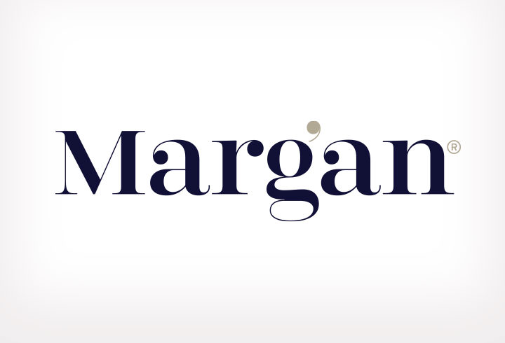 Logo and identity for Margan Limited, upholstery experts