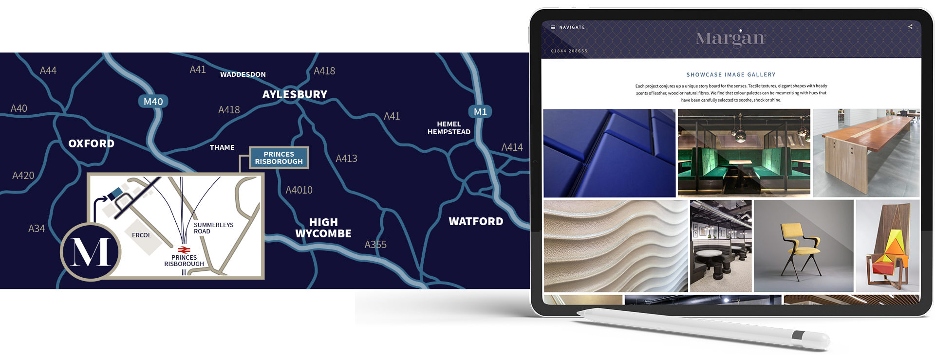 Custom drawn map and bespoke website design for Margan Limited